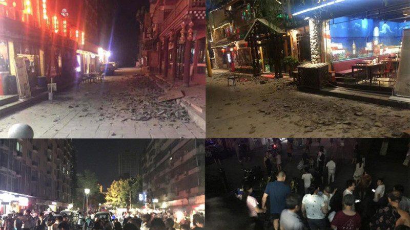 九寨溝7級地震約70死傷 民衆驚慌奔跑逃生