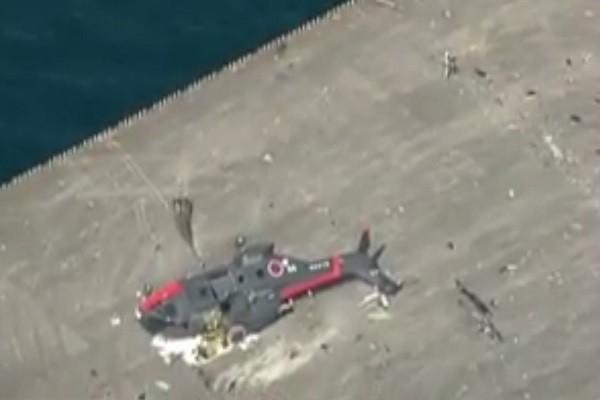 日自衛隊直升機主旋翼撞地面 傾覆岩國航空基地