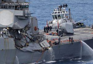 美驱逐舰与货轮碰撞 舰长在内3人遭解职