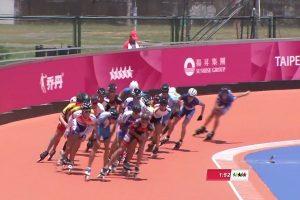 世大运滑轮溜冰1万公尺 中华队男女选手分别包办金、银牌(直播回放)