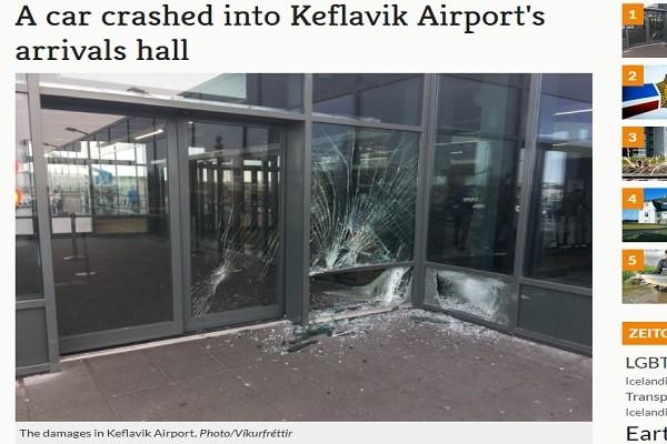 冰岛男与警追逐 冲进国际机场大厅 伤亡不明