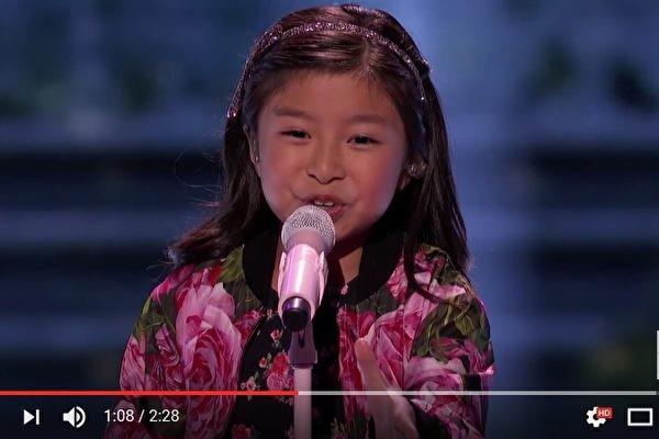 香港9歲女童再戰美達人秀 這次唱啥?(視頻)