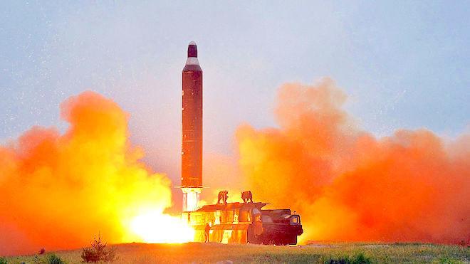 美军:朝鲜试射3枚短程弹道导弹 全部失败