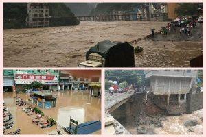 天鸽入滇 昭通逾10万人受灾  山塌形成堰塞湖