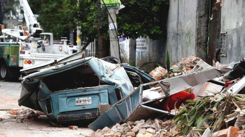 墨西哥百年最大地震伴海嘯 獨立天使紀念碑撼動(視頻)