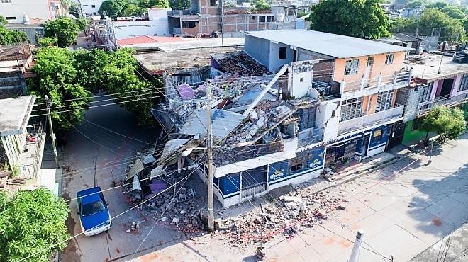 强震飓风夹击 墨西哥至少90死 数千栋房屋倒塌