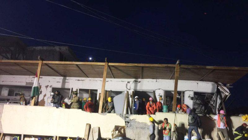 墨西哥強震小學坍塌 殘壁夾縫救童 已知21孩童身亡(視頻)