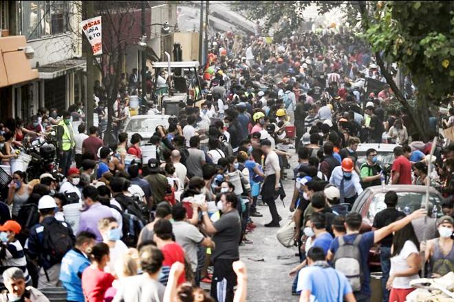 墨西哥天摇地动44栋建筑摧毁 民众组人链搬瓦砾救人