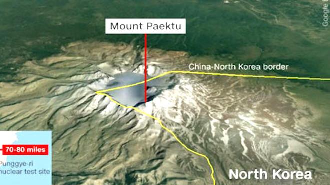 豐溪里兩次陷落地震 韓專家:長白山火山或噴發