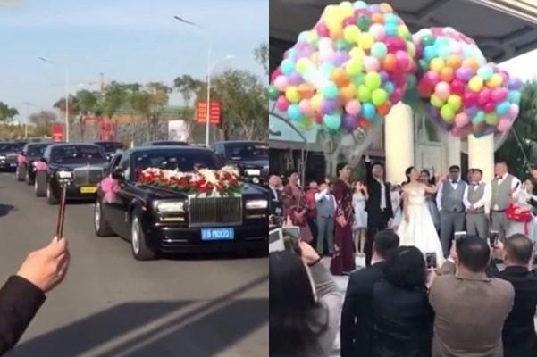 黑省土豪婚禮 百輛勞斯萊斯迎親 曾志偉助陣(視頻)