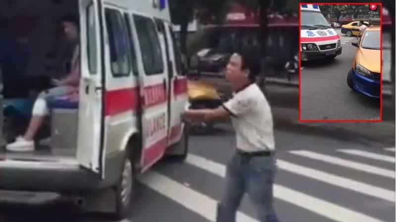 """湖南的哥蛮横阻拦救护车 网友痛斥""""社会败类"""""""