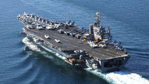 双航母震慑朝鲜?美罗斯福号离港惹猜测