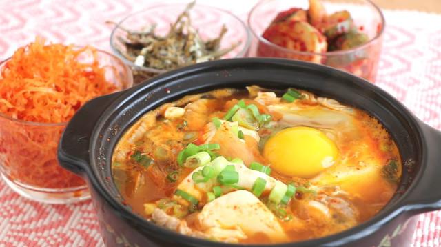 【美食天堂】韩国豆腐煲的家庭做法