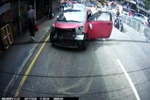 香港「瘋狂駕駛」一路衝撞釀8傷 棄車逃逸後被捕 (視頻)