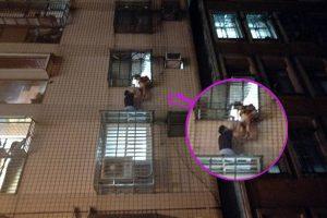 找爸爸!台2歲女童頭卡4樓外鐵窗 奮勇哥捨命保護