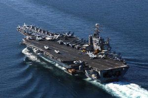 """美军7艘核航母罕见齐出动  """"陪""""川普对付""""火箭人"""""""