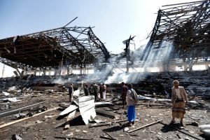 沙特联军发动空袭 也门国防部受创