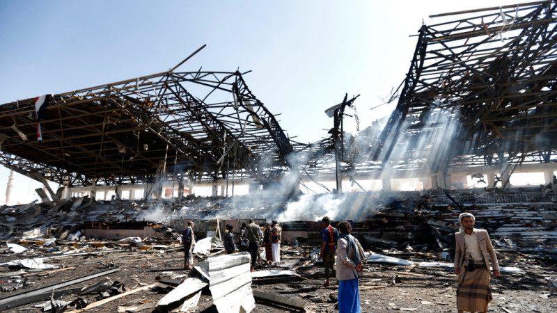 沙特聯軍發動空襲 也門國防部受創
