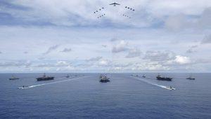 超級罕見 美3艘航母戰鬥群同時與日韓軍演