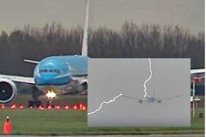 閃電從機頭劈到機翼 荷航空中驚險逃過一劫