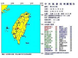 地牛翻身 嘉义规模5.5地震 震央在阿里山