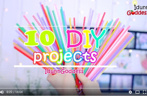她用吸管做出彩燈、手鐲、項鏈、耳環等10種東西 最後一種真想不到啊(視頻)