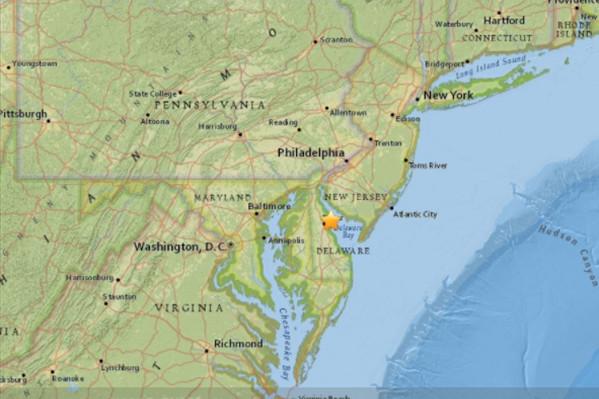 美特拉华州4.1级地震 震源仅8公里 纽约有感