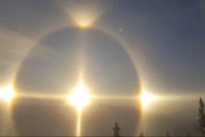 天使出現?風暴前兆?瑞典天邊出現耀眼奪目「日暈」奇景