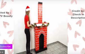她用廢紙箱做成的聖誕煙囪太可愛了 還有24種輕鬆易做的房間裝飾(視頻)