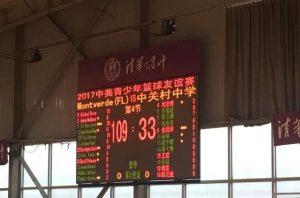 中美青少年籃球賽 美中學隊完勝北京冠軍隊76分