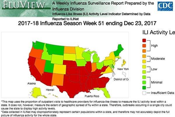 美流感季提前 36州发现流感大范围传播