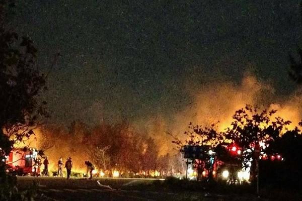 跨年倒数完烟火齐放 新竹南寮防风林烧逾3000坪