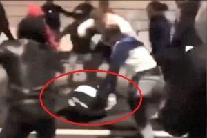 巴黎新年派對引騷亂 女警遭拳打腳踢蜷縮在地