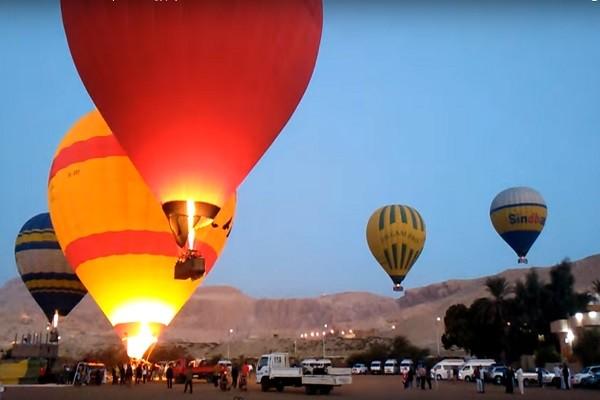 埃及古城刮强风 观光热气球急坠1死12人伤