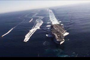 韓朝會談前 美航艦卡爾文森號打擊群前進西太平洋