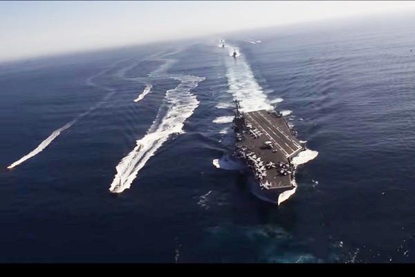 韩朝会谈前 美航舰卡尔文森号打击群前进西太平洋