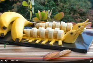 又美味又好看的香蕉拼盤 魅力擋不住(視頻)