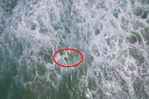 澳洲泳客海中遇險 無人機首次出勤救援