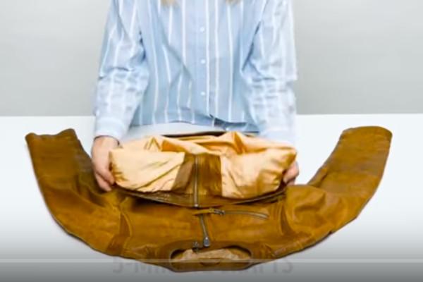 打包衣物行李 快速又防皱的方法(视频)