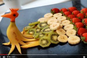 美麗的孔雀水果 適合聚餐派對(視頻)