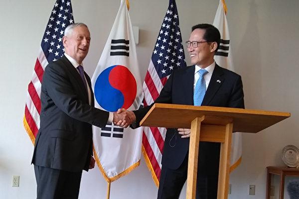 美韩防长会谈宣布:离间韩美的企图将失败