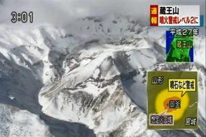 日藏王山地壳微幅变动 吁民众留意火山活动