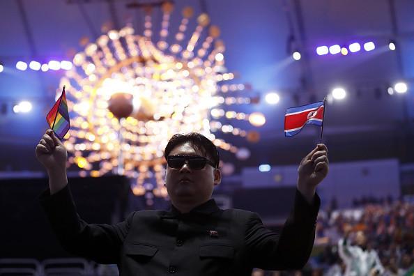 冬奧會山寨金正恩闖入朝鮮啦啦隊 場面大亂