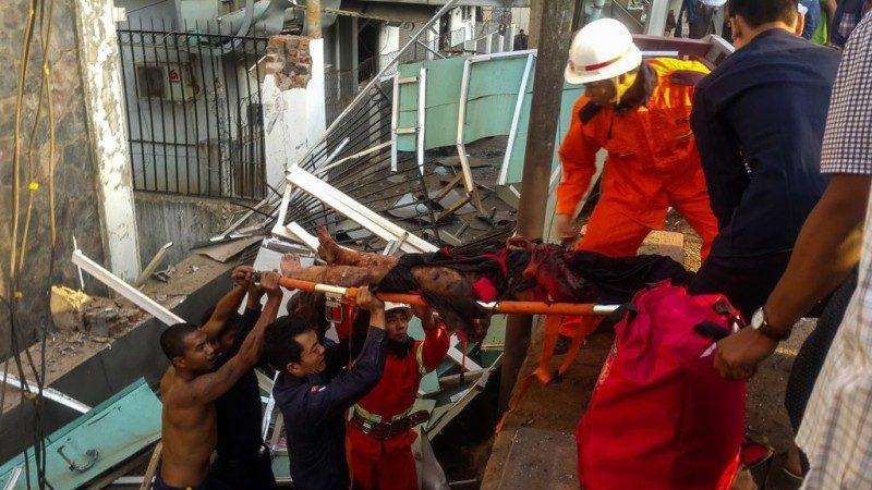 緬甸北部銀行驚傳爆炸 2死22傷