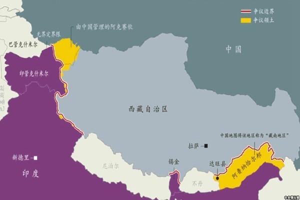 """印度在西藏竟有块""""飞地""""  共5个村落"""
