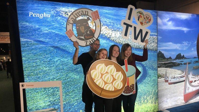 """多伦多户外旅游展台湾观光局力推""""2018海湾旅游年-探索岛屿就是现在"""""""