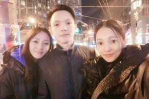 张韶涵晒姐弟仨合照 网友:姐妹俩神似双胞胎