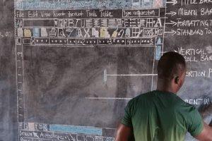 上电脑课没电脑怎么办?迦纳老师直接画给学生看