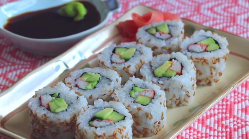 【美食天堂】美國必吃加州壽司卷的家庭做法