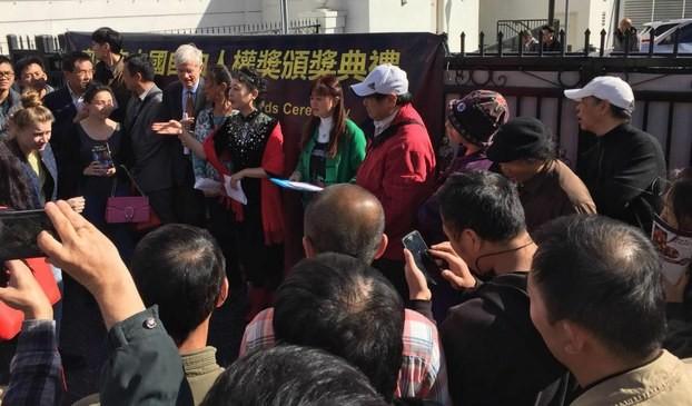 第5屆奧斯卡中國自由人權獎 美國星光大道頒獎
